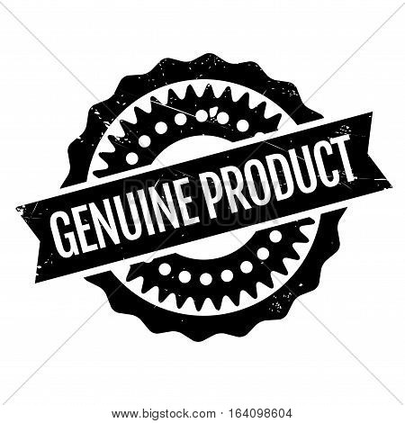Genuine Product rubber stamp. Grunge design with dust scratches. Effects can be easily removed for a clean, crisp look. Color is easily changed.