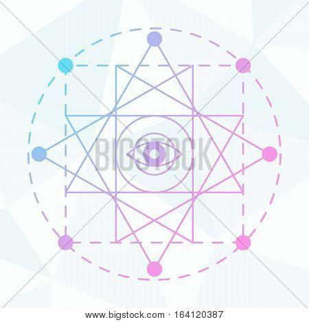 Sacred geometry sign. Linear Modern Art. Alchemy spirituality esoteric hipster symbol, logotype