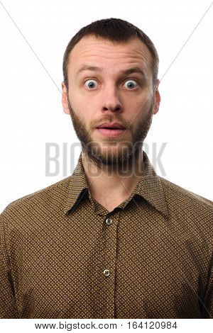 Shocked Man With A Beard