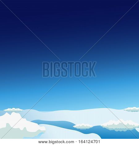 Stratosphere Flat Modern Design. Space Vector Illustration.