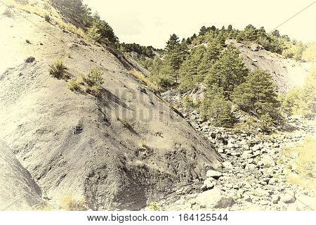 Canyon in the French Alps Stylized Photo