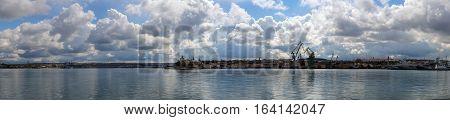 panorama of the bay and sky in Sevastopol