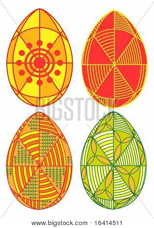 Easter Egg With A Traditional Pattern