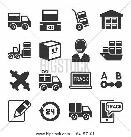 Shipping, Logistic and Delivery Icons Set. Vector illustration