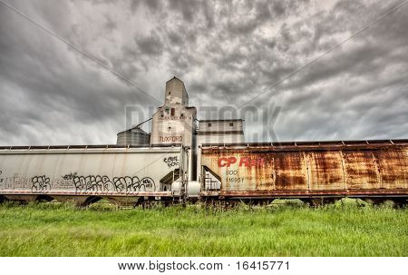 Storm Clouds Over Grain Elevator