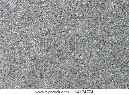 Closeup of the asphalt texture in the highway road.