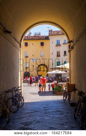 Underpass To Piazza Del Anfiteatro, Lucca