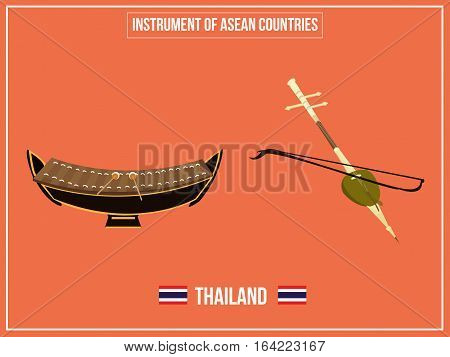 Vectors illustration of Instrument of Thailand country