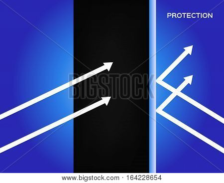 human hair shield protection vector . blue background