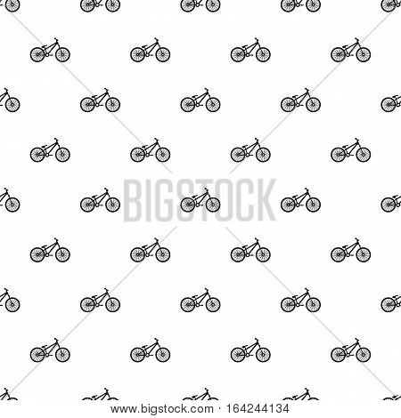 Bike pattern. Simple illustration of bike vector pattern for web