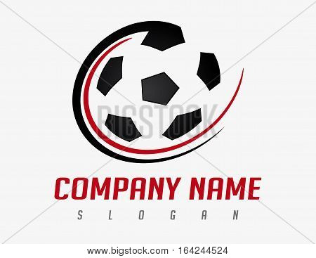 Soccer ball design modern on withe background