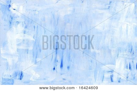 Blue Abstract Acryl Painting Background. Grunge Pattern