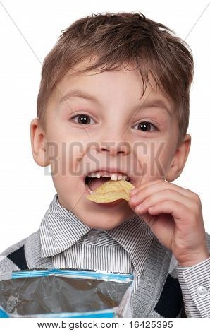 Boy with a chips