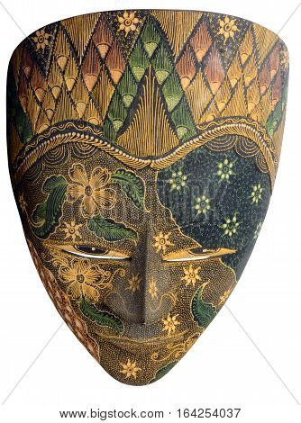 Indonesian Floral Mask Face