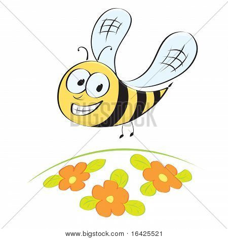 Cute little cartoon bee