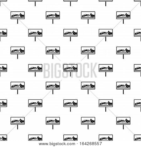 Sign evacuation cars to impound yard pattern. Simple illustration of sign evacuation cars to impound yard vector pattern for web