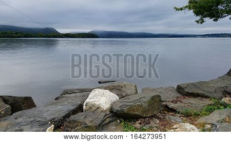 View of the Hudson River from Long Dock Park Beacon NY