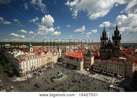 Old Town Square in Prague, Czech republic.