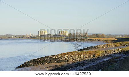 River Severn & Disused Berkeley Power Station Gloucestershire
