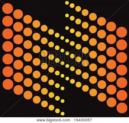 Abstract Orange On Black.eps