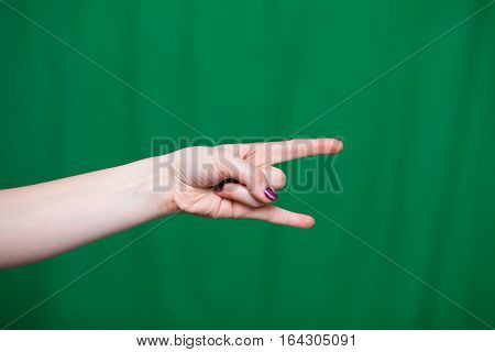 Hand Female Rock Fingers