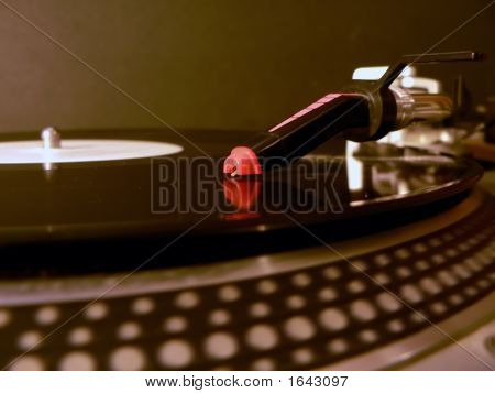Dj Turntable Needle On Record 2