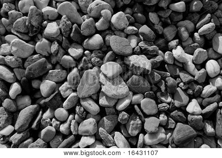 background texture with round peeble stones