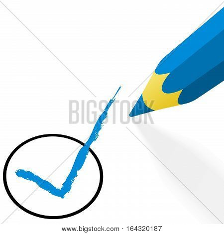 Blue Pencil With Hook