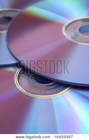 CD's (well lit studio shot)