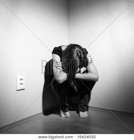 Joven deprimida