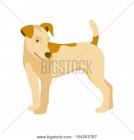 Dog Vector illustration style Flat profile side