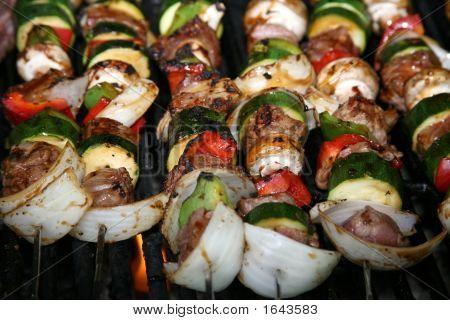 Bbq Sticks On The Grill