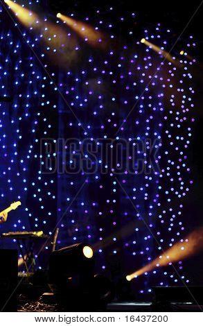concert hall lights (color toned image)