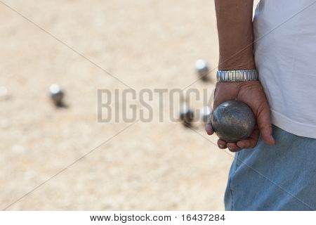 Boules (Petanque) game, French riviera