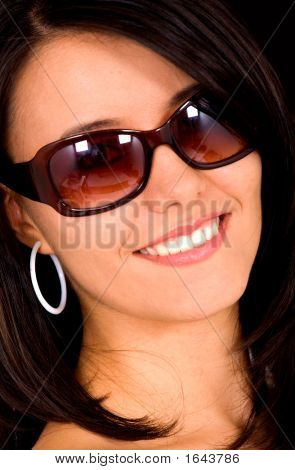 Fashion Woman Portrait With Sunglasses