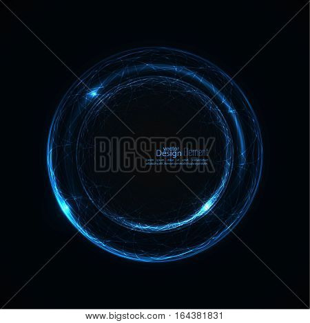 Abstract background with luminous swirling backdrop. Intersection curves. Glowing spiral. The energy flow tunnel.  Lights vector frame. blue, cerulean, cobalt, indigo, sapphire ultramarine quantum