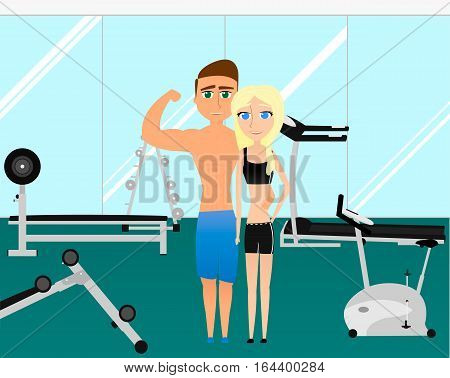 Fitness pair of lovers. Sport pair for different images