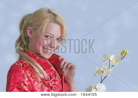 Angel With Orchid