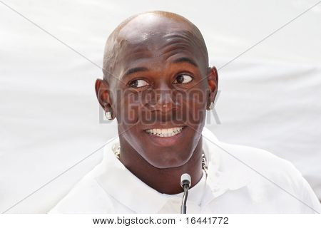 Donald Driver, wide receiver for the Green Bay Packers at a charity event