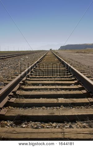 Railroad Tracks By Salt Lake