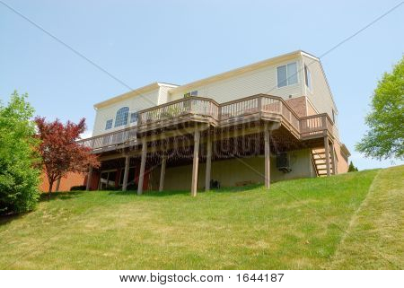 Residential Sloped Back Yard