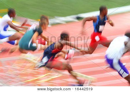 Hurdle Race (motion blur)