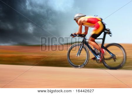 Bike racer (motion blur)