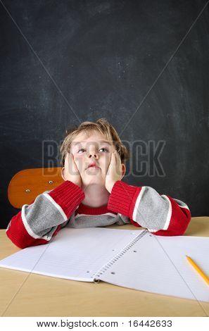 Gelangweilt schlik student