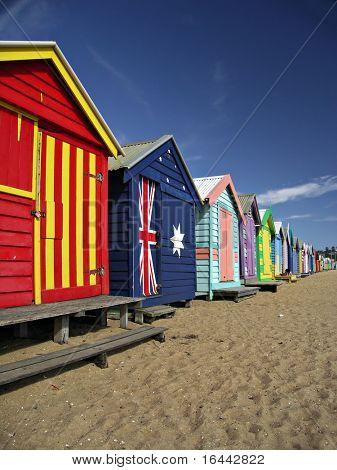 bathing boxes at brighton beach