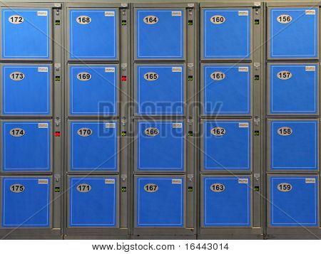 Blue Luggage Lockers