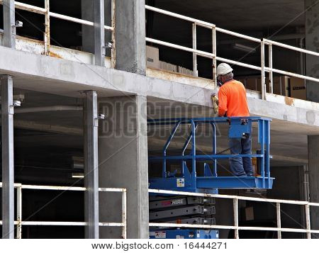 Workman at Building Site