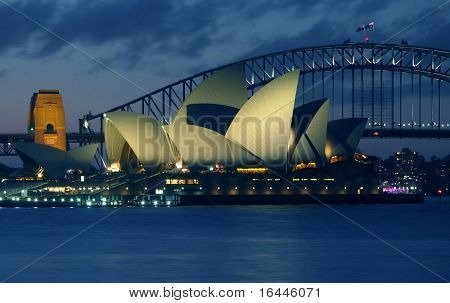 Sydney Opera House y el Harbour Bridge