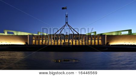Australia's Parliament House by Night - Canberra