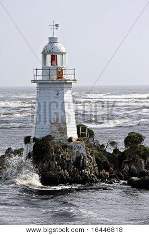 Lighthouse at Macquarie Heads near Strahan Tasmania